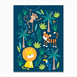 Little Jungle Canvas Print