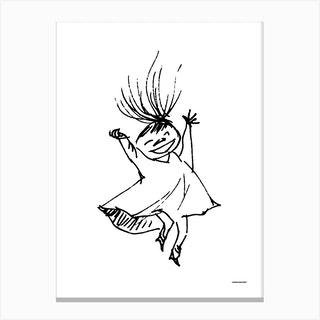 The Moomin Drawings Collection Happy Mymble Canvas Print