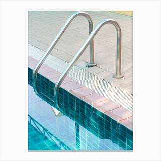 Vintage Swimming Pool Canvas Print