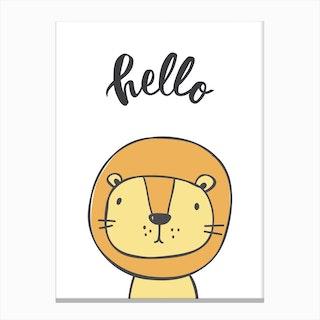 Hello Lion Canvas Print
