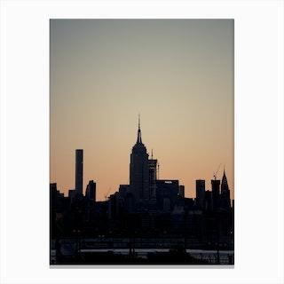 Empire State Silhouette Canvas Print