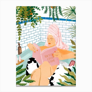 How To Have A Spa Day At Home Canvas Print