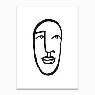 Faces 7 Canvas Print