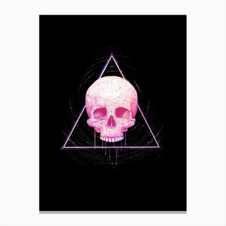 Galaxy Skull Canvas Print