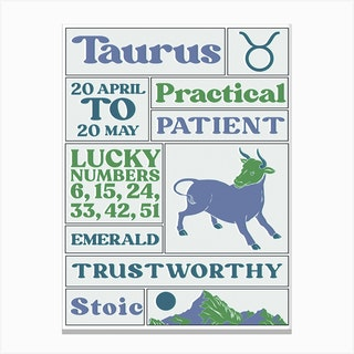 Zodiac Taurus Canvas Print