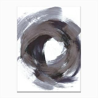 Circular Strokes Canvas Print