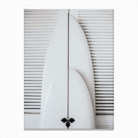 Beach Surfboard Symmetry Canvas Print