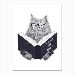 Smart Cat Canvas Print