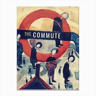 The Commute London Canvas Print