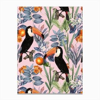 Tucan Garden Canvas Print