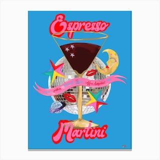 Cocktail Collection Espresso Martini Canvas Print