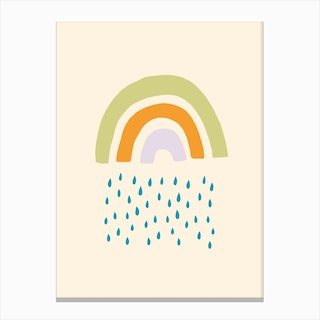 Raining Rainbow Canvas Print