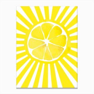 Citrus Sun Canvas Print