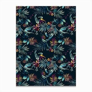 Dark Tropic Canvas Print