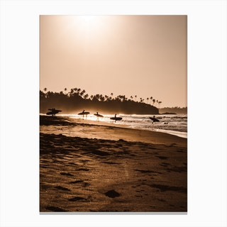 Morning Beach 1 Canvas Print