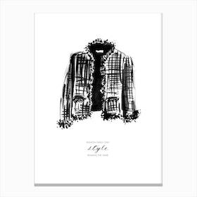 Tweed Jacket Canvas Print