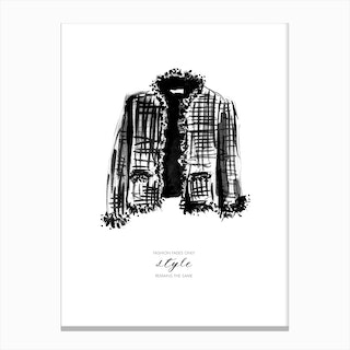 Tweed Jacket Canvas Print