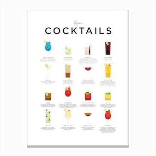 Rum Cocktails Canvas Print