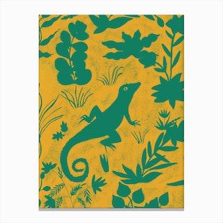 Jungle Lizard Canvas Print