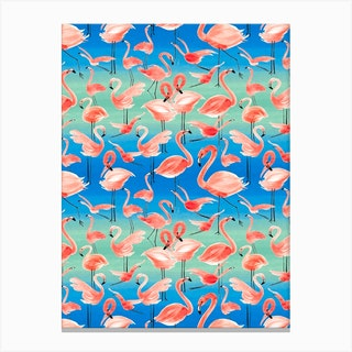 Flamingo Pink Canvas Print