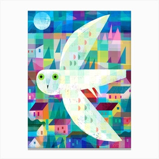Owl Town Canvas Print