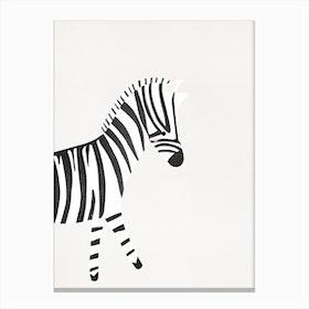Cute Zebra Print Canvas Print