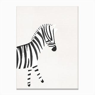 Cute Zebra Print Canvas Print