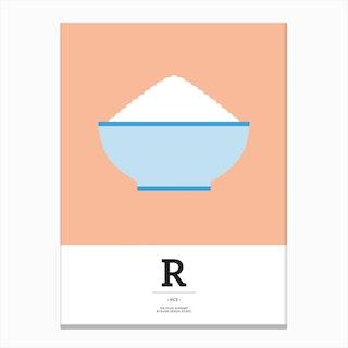 The Food Alphabet – R Canvas Print