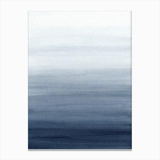 Ocean Watercolor 1 Canvas Print