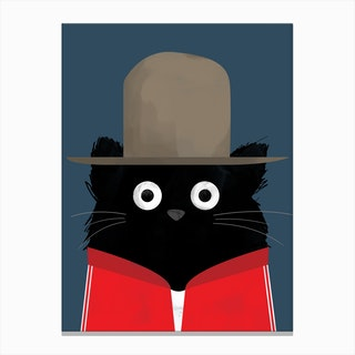 Cat Pharrell Canvas Print