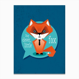 Stay Clever Fox Canvas Print