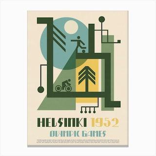 1952 Olympics Helsinki Canvas Print