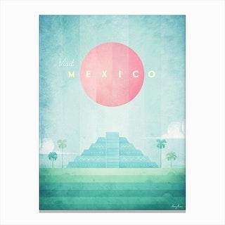 Visit Mexico Canvas Print