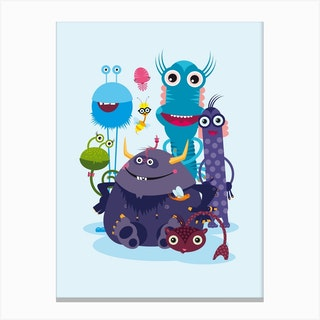 Monster Crew Canvas Print
