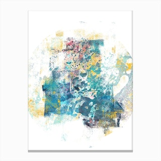 City Tide   Abstract Painting II Canvas Print