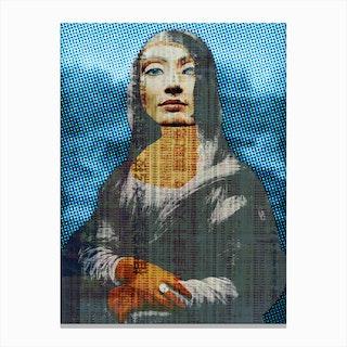 Nona Lifretéte in Blue Canvas Print
