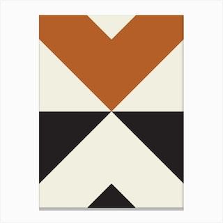 Split X Rust Canvas Print