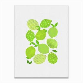 Lime Crowd Canvas Print