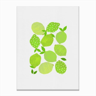 Lime Crowd Canvas Print