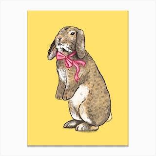 Fancy Bunny Canvas Print
