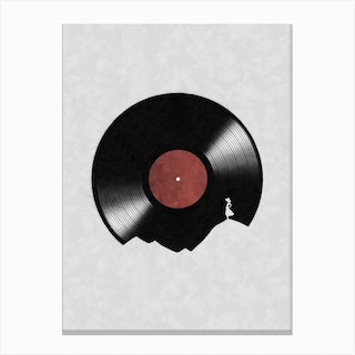 In The World Of Music Canvas Print