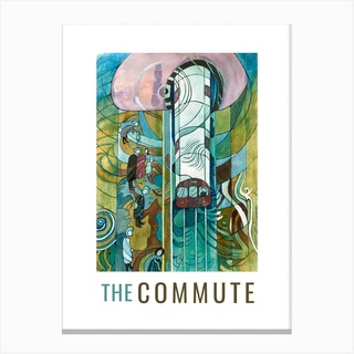The Commute Daytrip Canvas Print