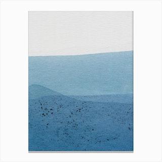Positive Blue Canvas Print