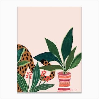 Sneaky Leo Canvas Print