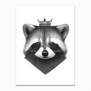 Queen Raccoon Canvas Print