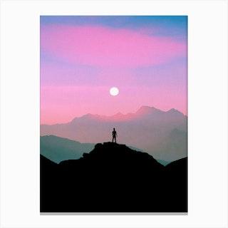 Purple Mountain Canvas Print