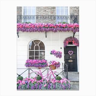 Pink Purple Belgravia Bicycle Canvas Print