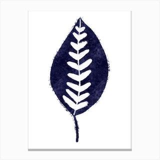 Mono Calathea Canvas Print