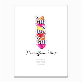 Procaffeinating Canvas Print
