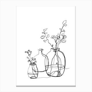 Flower Jars Canvas Print